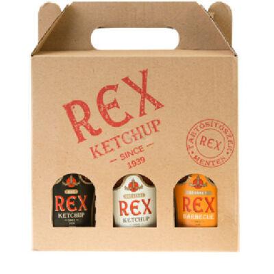 REX 3Pack kóstoló - 3x230 g (0,22 l) kis üveg  Original/HOT/BBQ