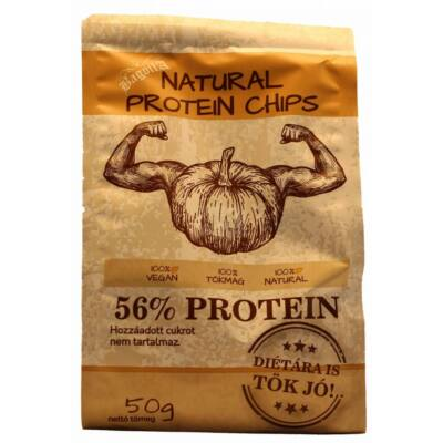 Natural Protein Chips Tökmagból 50 g